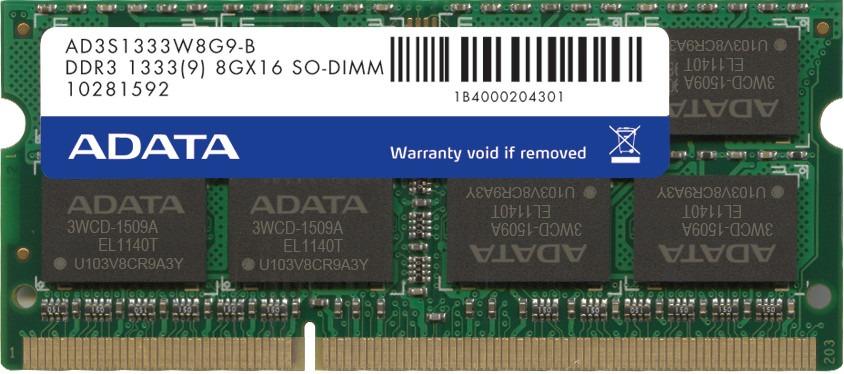 Memoria Ddr3 Para Laptop Adata 8gb 1333mhz Deskcom